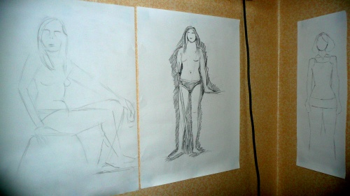 Three Life-drawing Sketches