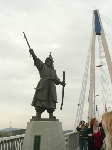 Yi Sun-sin Statue on Jindo Bridge